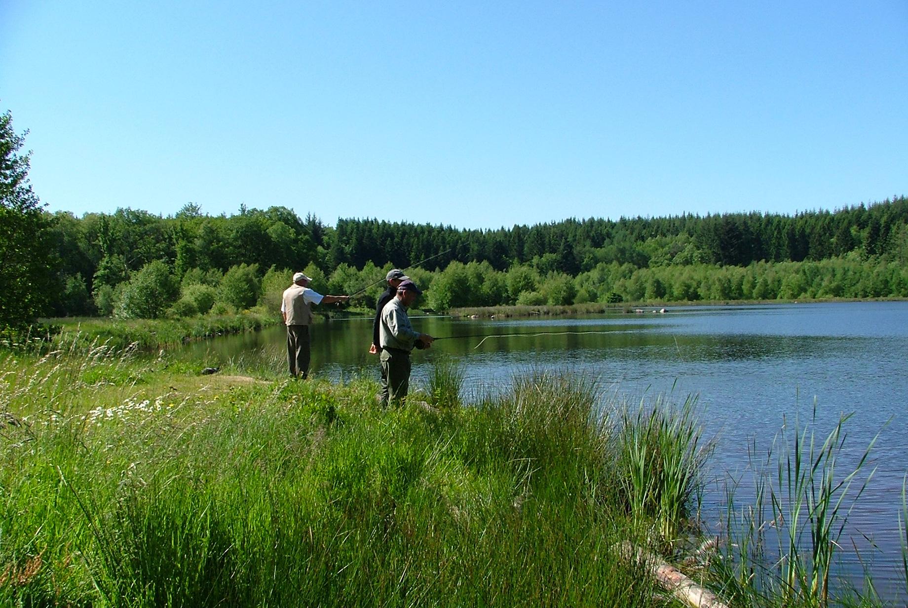 Pêche de la truite en réservoir dans le Morvan